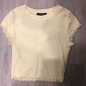Baby yellow cropped Forever 21 T-shirt